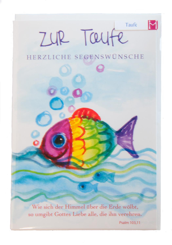 Karte Zur Taufe Gottes Liebe Und Regenbogenfisch