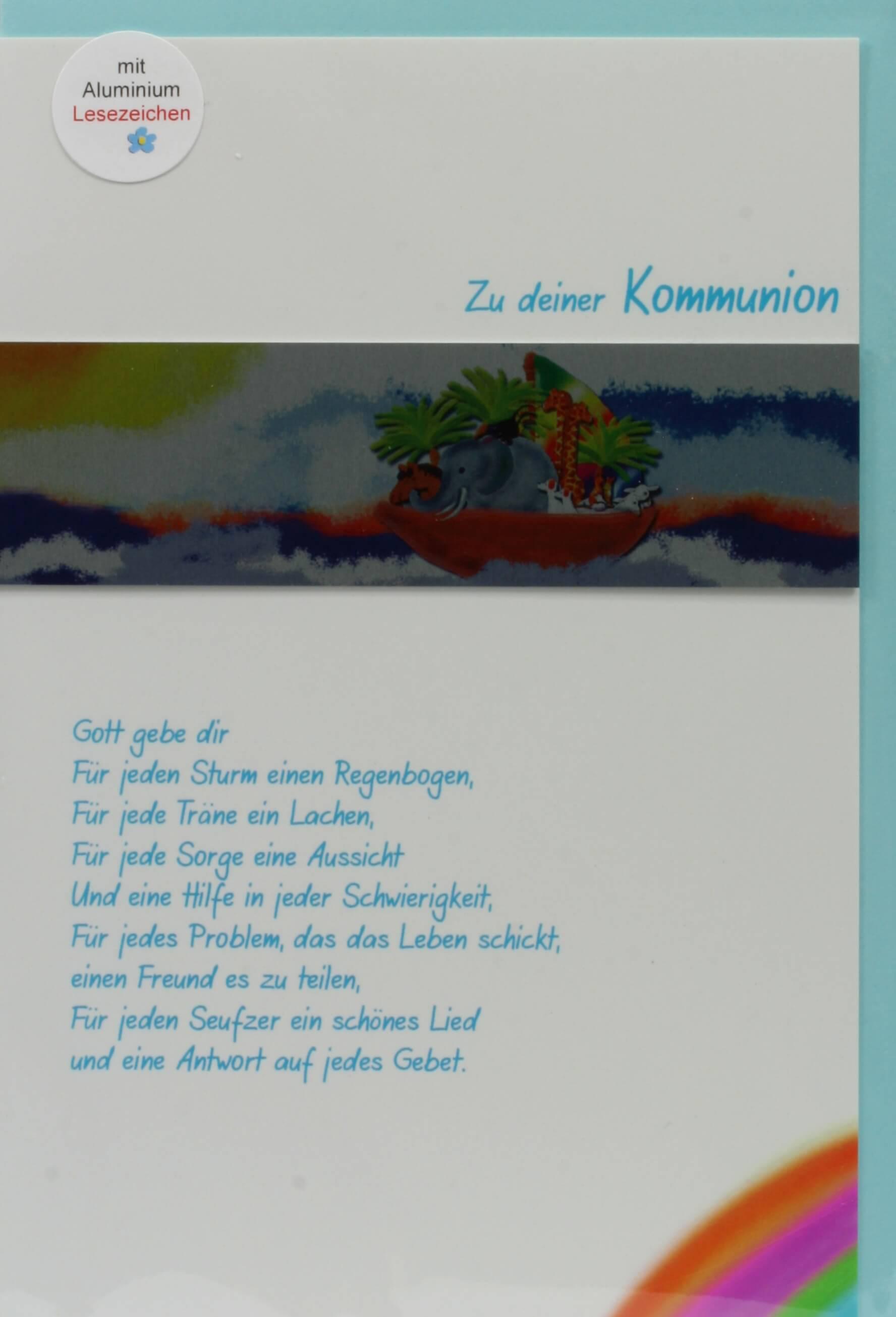 Kommunionkarte Gott Gebe Dir Metall Lesezeichen