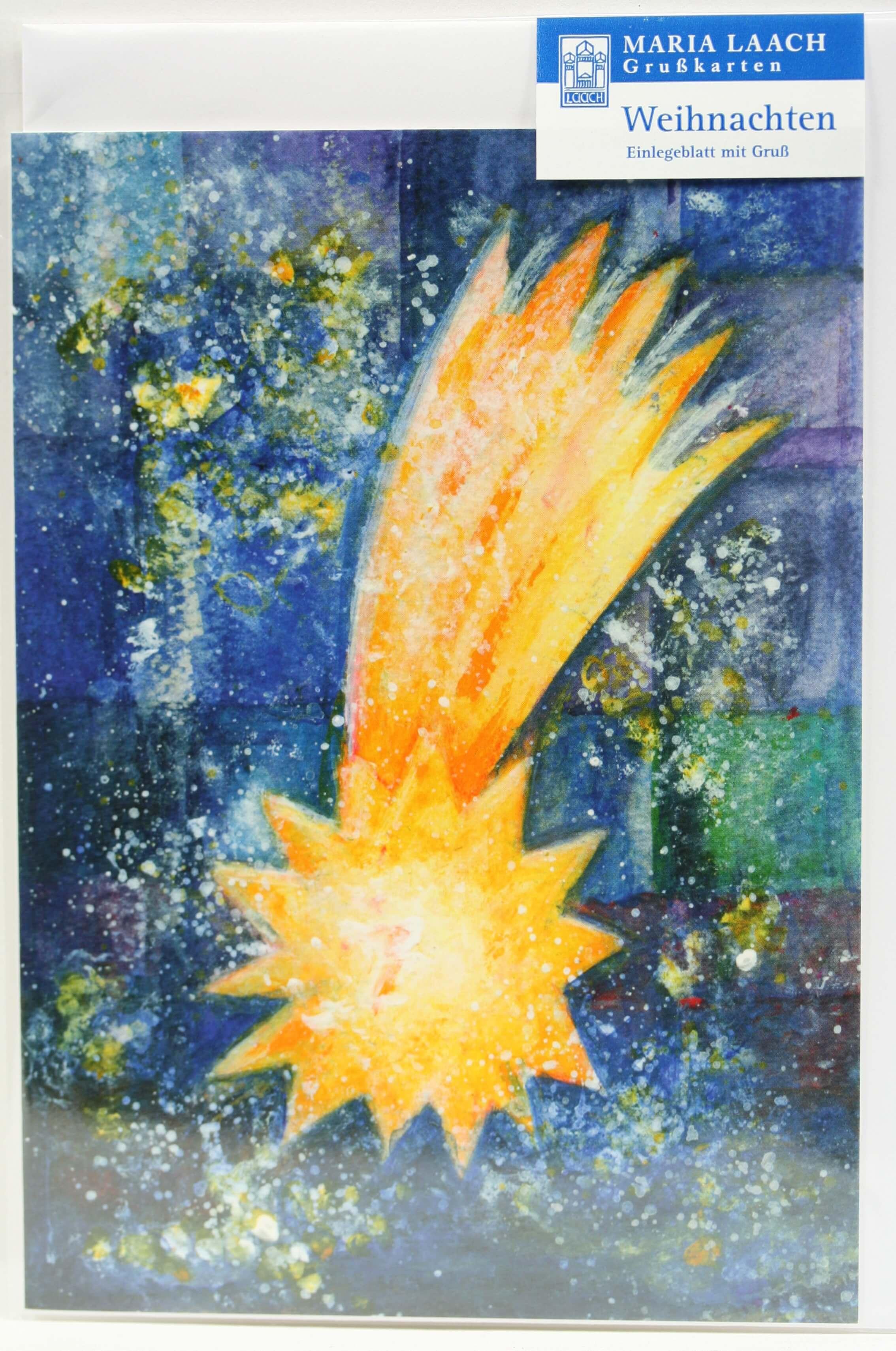 Religiöse Weihnachtskarten.Weihnachtskarte Weihnachtsstern