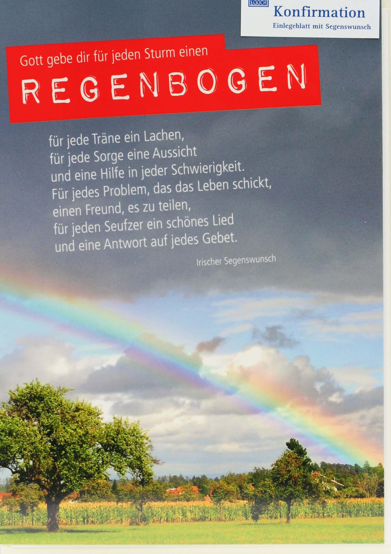 Spruch Konfirmation Karte.Karte Zur Konfirmation Für Jeden Sturm Einen Regenbogen