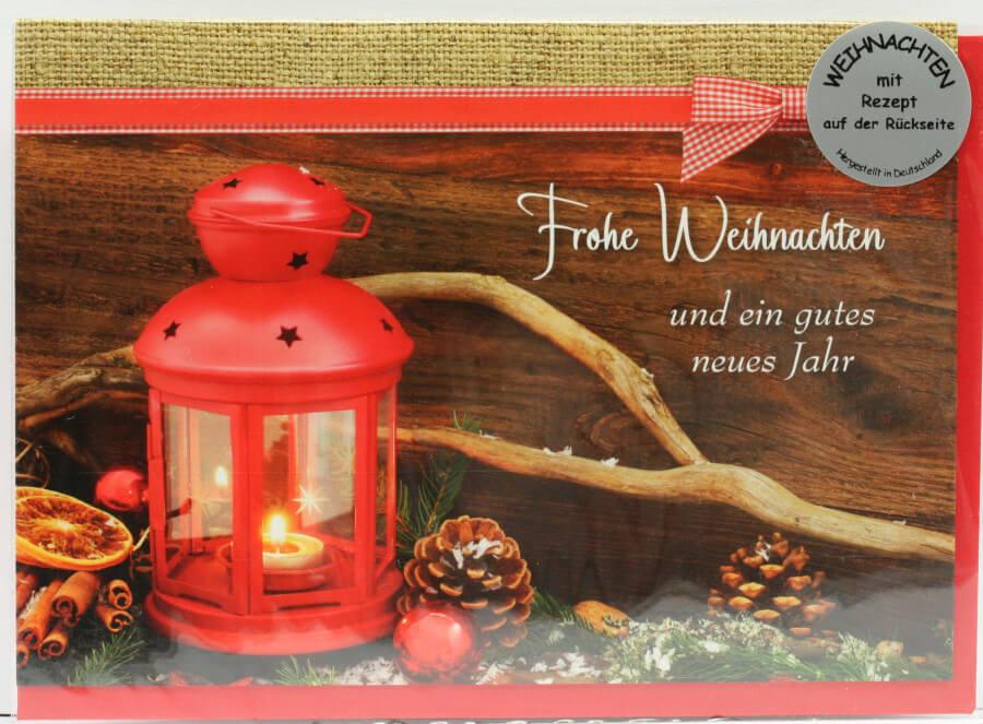 weihnachtskarte frohe weihnachten lebkuchen. Black Bedroom Furniture Sets. Home Design Ideas