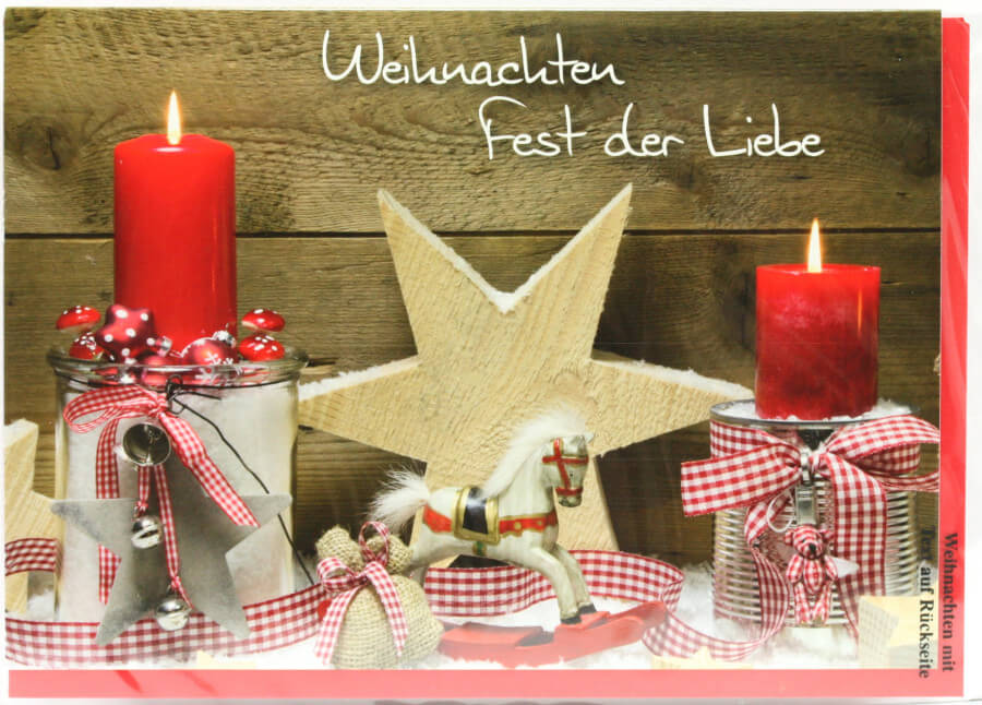 weihnachtskarte fest der liebe. Black Bedroom Furniture Sets. Home Design Ideas