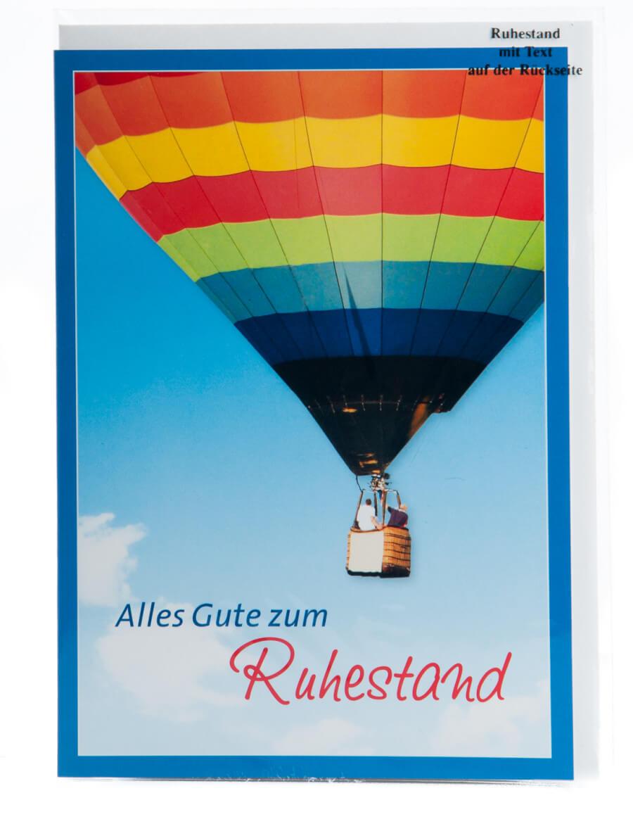 karte zum ruhestand hei luftballon On uberraschung zum ruhestand
