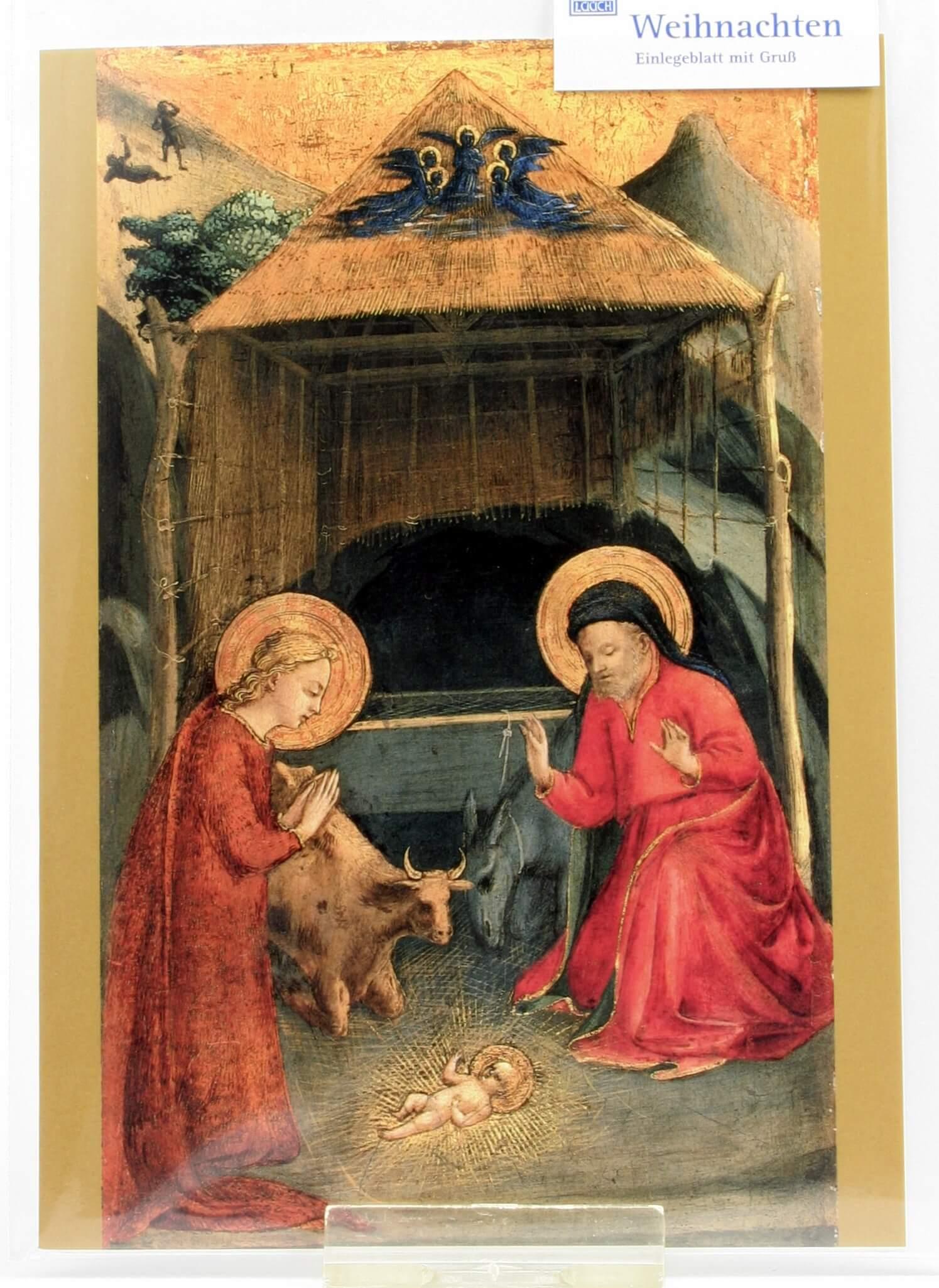 Weihnachtskarte - Geburt Christi v. Fra Angelico
