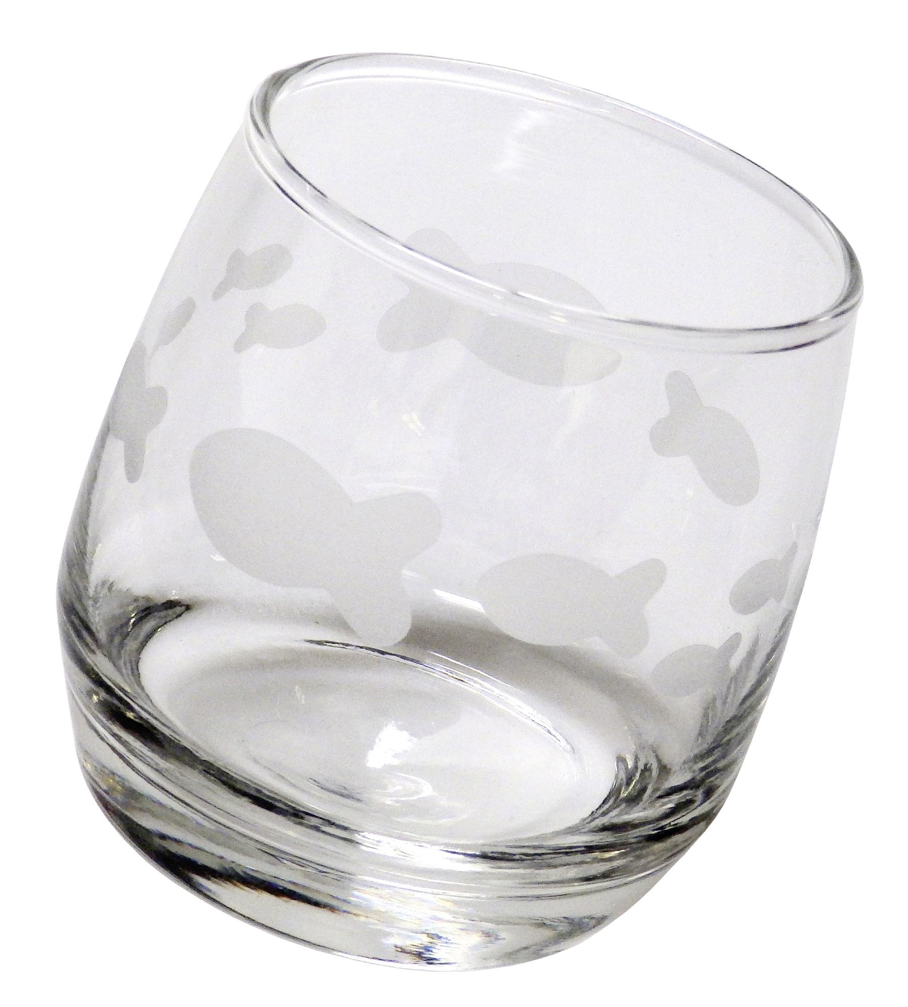 Glas wackelglas mit fischen for Teichreinigung mit fischen