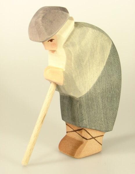 Ostheimer Krippe - Hirte gebeugt