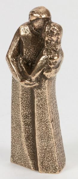 Bronzeplastik - Zu Zweit Vereint