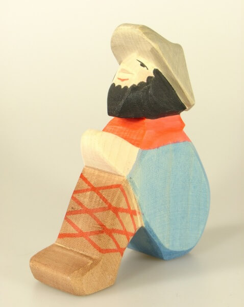 Ostheimer Krippe - Hirte sitzend