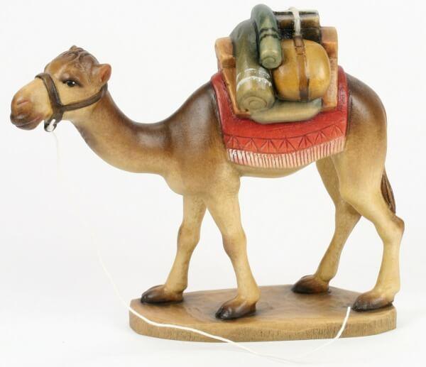 Zosato Krippe - Kamel m. aufgeschnitztem Gepäck