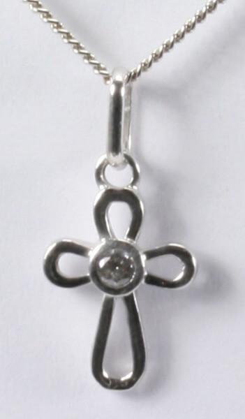 Halskette - Runde Form & Kleiner Kristall