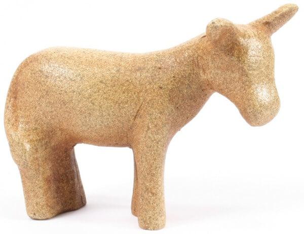 Münstertal Krippe - Esel stehend