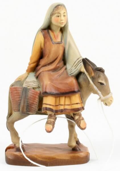 Heilig-Land Krippe - Hirtin auf Esel