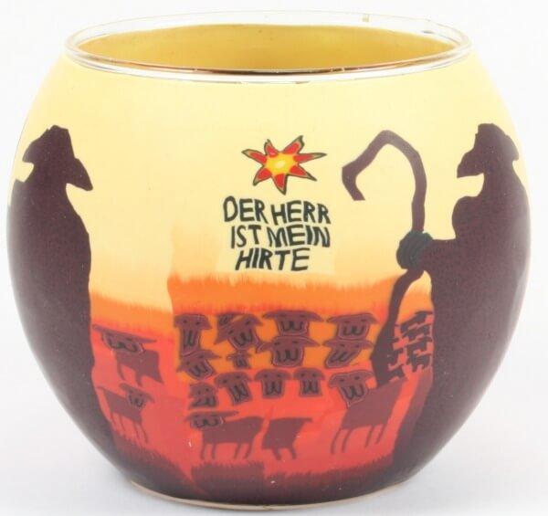 Kerze - Der Herr ist mein Hirte & Leuchtglas