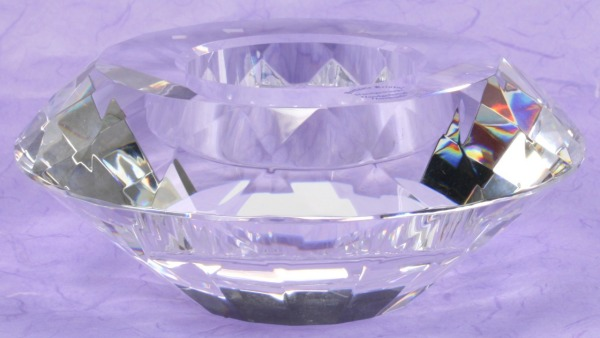 Kerzenständer - Kristall & Teelicht -