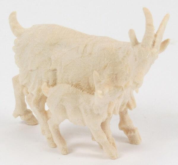 Kostner-Krippe - Ziege mit Zicklein