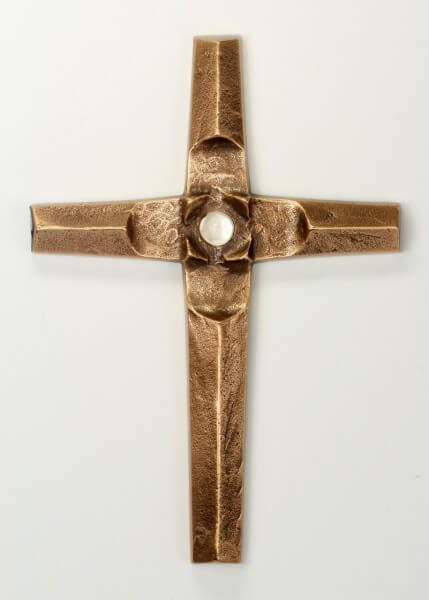 Bronzekreuz - Bergkristall