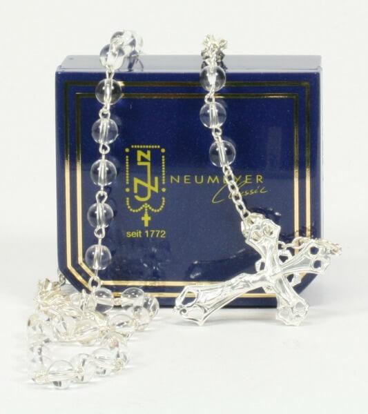 Rosenkranz - Bergkristall-Perle