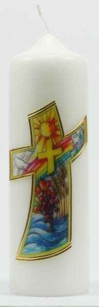 Tischkerze - Kreuz & Symbole