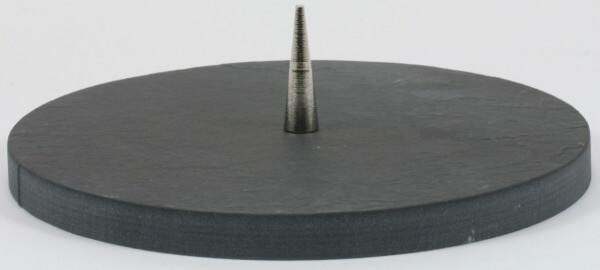 Kerzenständer - Schiefer & Runde Form