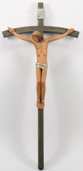 Holzkreuz - Zirbelholz Farbig & 25 cm