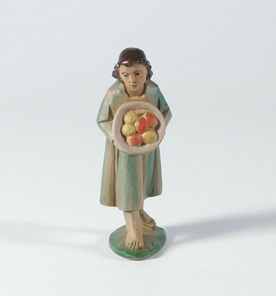 Tiroler-Krippe - Mädchen mit Obstkorb