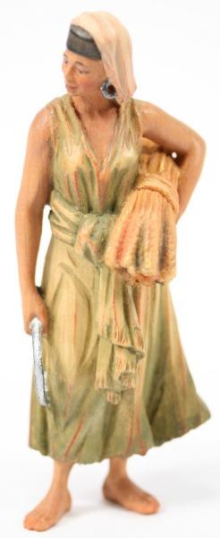 Anri-Krippe - Frau mit Korn
