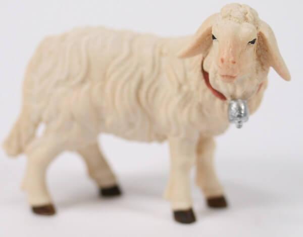 Kostner-Krippe - Schaf stehend mit Glocke