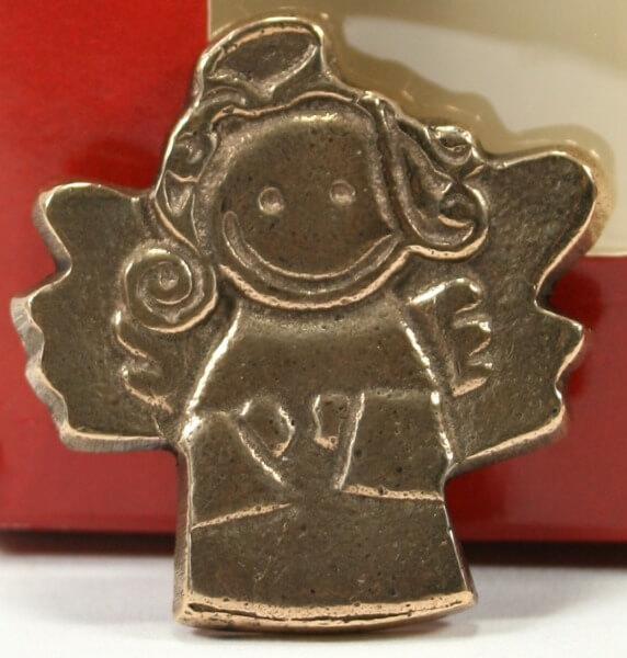 Autoplakette - Lachender Engel & Bronze