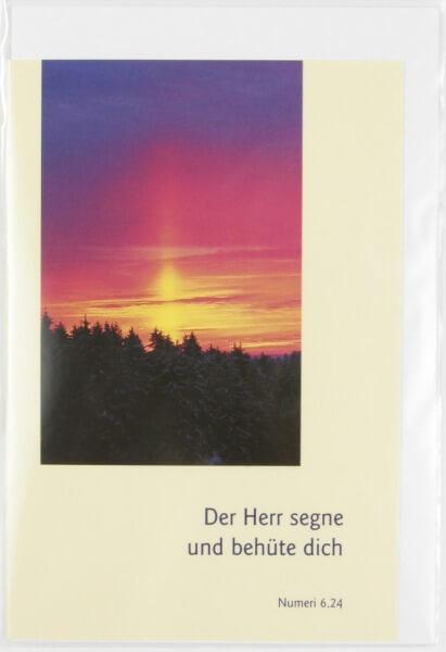 Karte - Sonnenuntergang