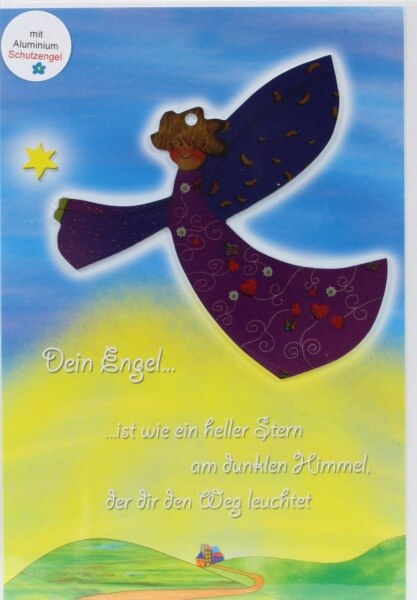 Neutrale Karte - Ein heller Stern & Metall-Engel