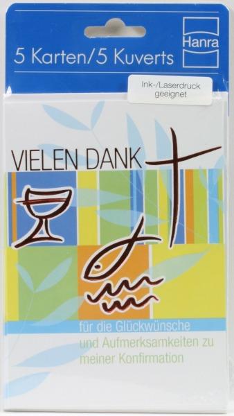 Konfirmationskarten - Danksagung & Glänzende Symbole