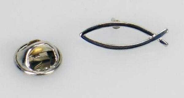 Anstecker - Fisch Silberfarben