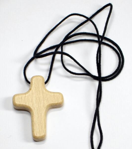 Stoffband - Holzkreuz Rundlich