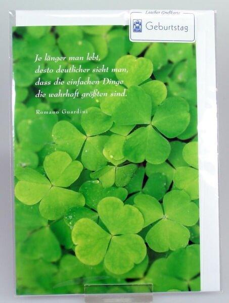 Geburtstagskarte - Kleeblatt