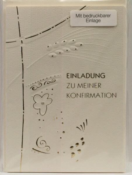 Karte zur Konfirmation - Einladung & Ähren