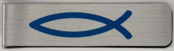 Lesezeichen - Magnet & Fisch Blau 10 x 2,5 cm