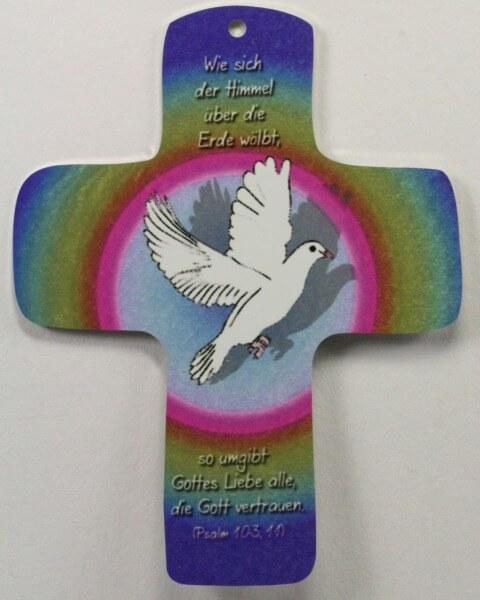 Metall-Kreuz - Taube & Gottes Liebe