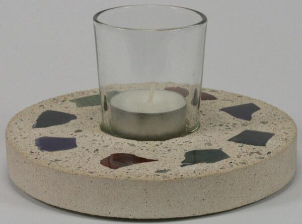 Kerzenständer - Sandstein & Achatsteine