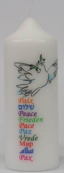Spruchkerze - Frieden