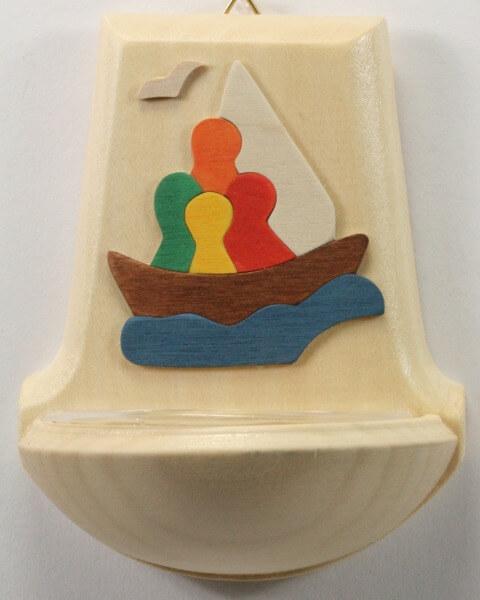 Holzbecken - Alle in einem Boot