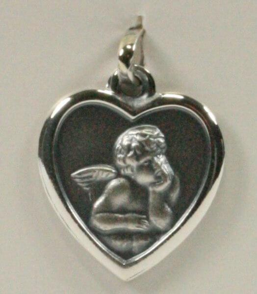 Silber-Anhänger - Herz & Schutzengel
