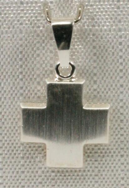 Silber-Kreuz - Klein & Quadratisch