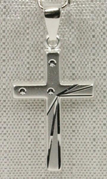 Silber-Kreuz - Strahlen & Punkte