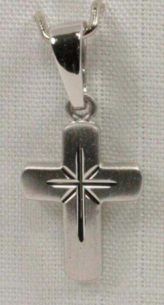 Silber-Kreuz - Abgerundet & Sternenform