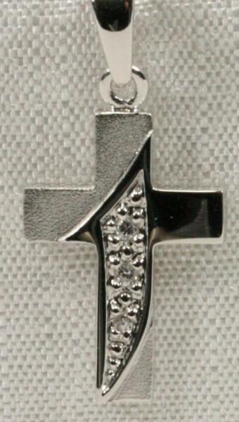 Silber-Kreuz - Schlicht & Kleine Verzierung