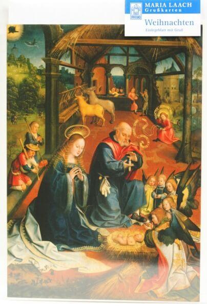 Weihnachtskarte - Christi Geburt & van Utrecht