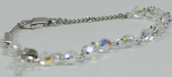 Armband - Swarovski-Perle & Kreuz