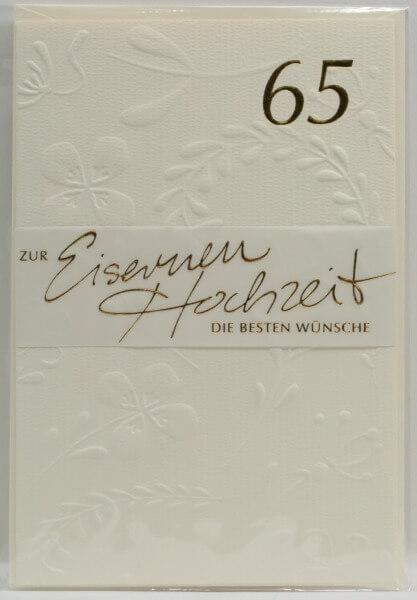 Karte Zur Eisernen Hochzeit 65 Jahre