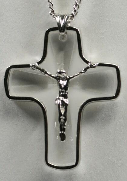 Halskette - Swarovski-Kreuz & Korpus