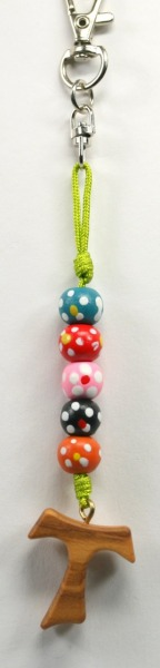 Anhänger - Farbige Perlen & Taukreuz